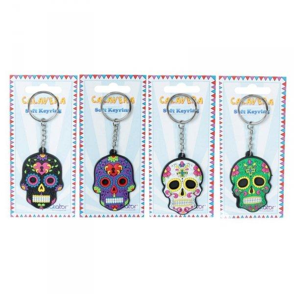 breloczek do kluczy - Meksykańska Czaszka Calavera