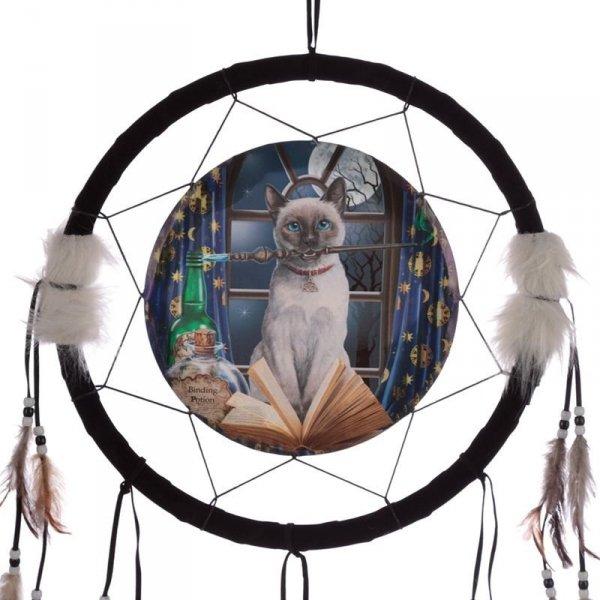 indiański łapacz snów z obrazkiem Lisy Parker - Hokus Pokus Kot, kot z magiczną różdżką