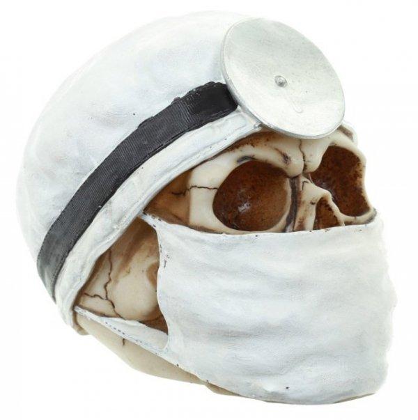 Czaszka Lekarz w białym czepku - figurka