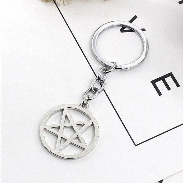breloczek do kluczy - brelok z pentagramem