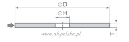 Tarcza do cięcia stali, metalu PENTAR ECO-PLUS płaska