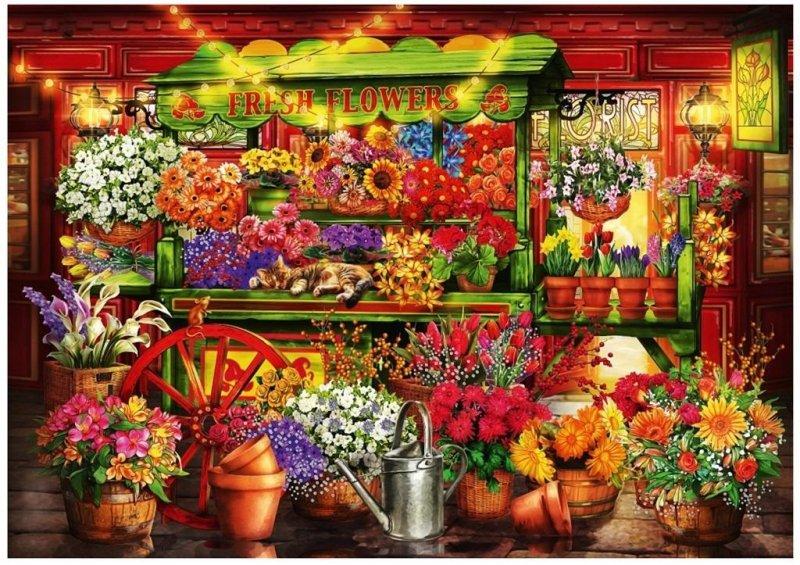 Puzzle 1000 Kwiaciarnia Ciro Marchetti