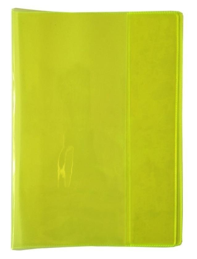 Okładka na zeszyt A5 PVC Neon żółty (5szt)