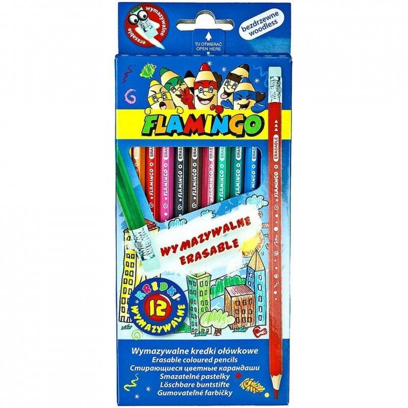 Kredki ołówkowe bezdrzewne wymazywalne 12 kolorów
