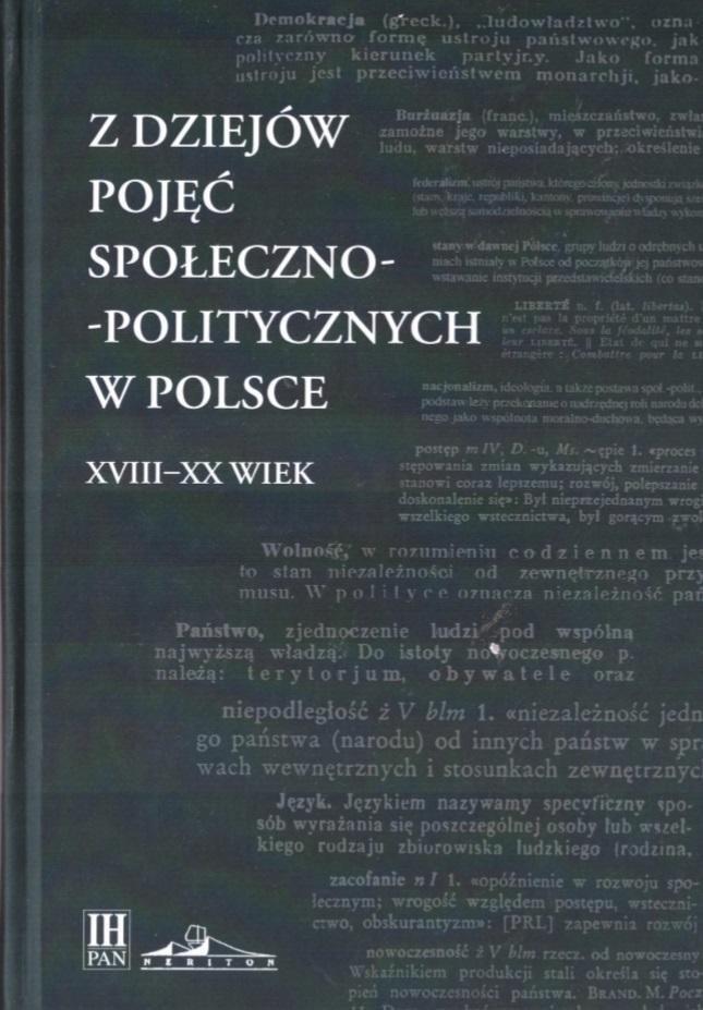 Z dziejów pojęć społeczno-politycznych w Polsce