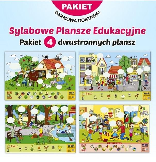 Pakiet: Sylabowe plansze edukacyjne (4szt.)
