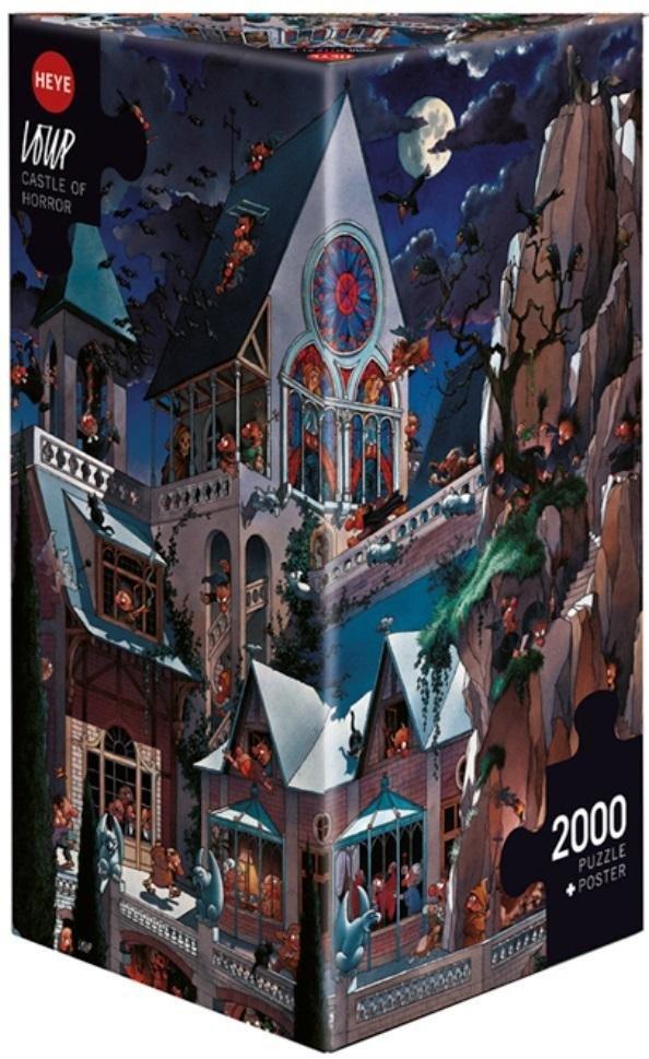 Puzzle 2000 Straszny zamek(Puzzle+plakat), Loup