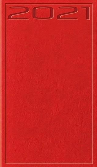 Kalendarz 2021 Tygodniowy Print czerwony