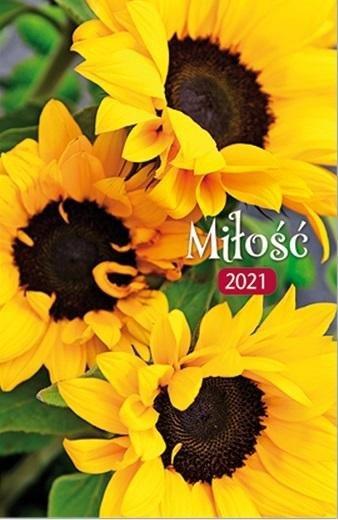 Kalendarz 2021 Kieszonkowy Miłość - Słoneczniki