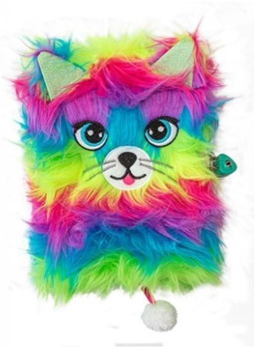 Pamiętnik z kłódką A5/96K Włochacz MLF Rainbow Cat
