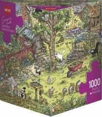 Puzzle 1000 Koty Simona, Zabawy w ogrodzie
