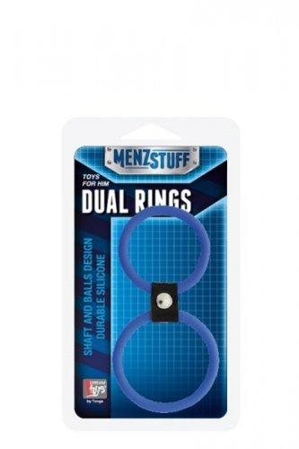 Pierścień-MENZSTUFF DUAL RINGS BLUE
