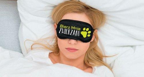 Maska-Opaska na oczy BIERZ MNIE ZWIERZAKU
