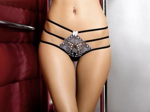 Bielizna-Chantal string black L (czarne stringi)