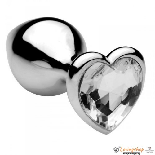 Plug Anale Heart Jewel Plug medium clear