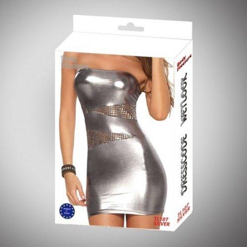Bielizna - Wetlook Dress Silver one size