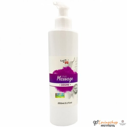 Olejek do masażu i lubrykant Desire zapach 250ml LoveStim