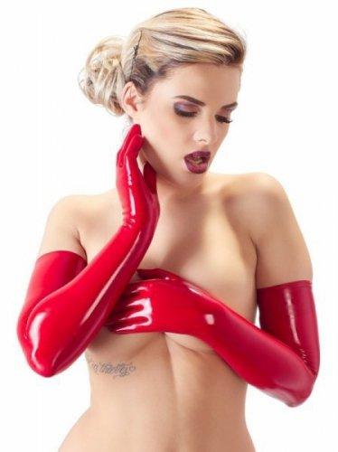 Lateksowe rękawiczki czerwone XL
