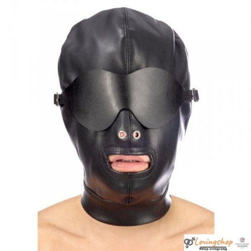 Maska Hood in leatherette with removable mask