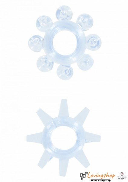 Pierścień-POWER STRETCHY RINGS BLUE 2PCS