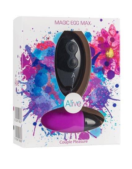 Jajko/wibr-Wibrator - Magic Egg Max Remote control. Func:10.Violet. AAA
