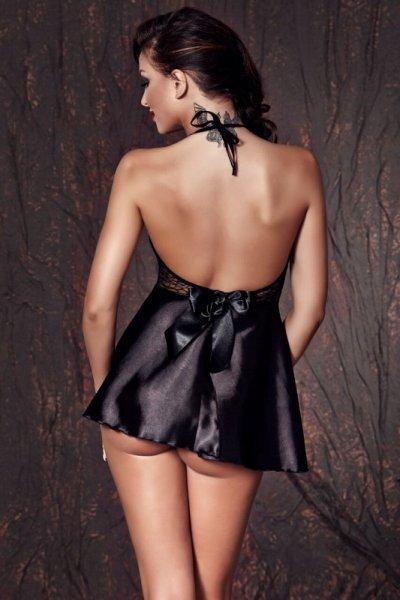 Bielizna-Liu black chemise L (czarna halka)