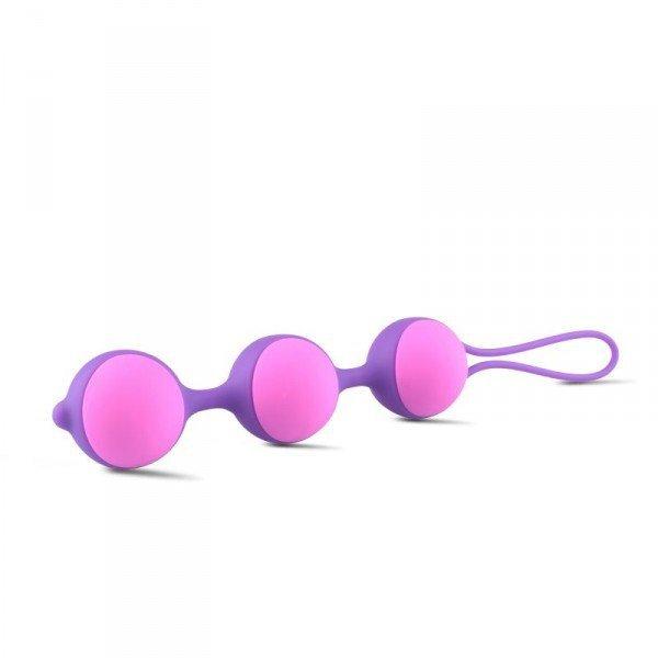 Kulki-Palline Vaginali Bi-Balls Triple Purple