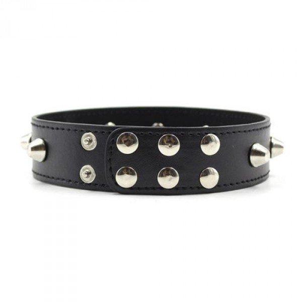 Wiązania-Collare Spikes Collar black
