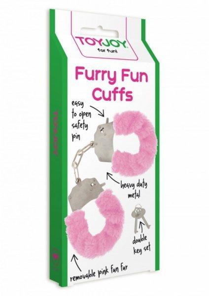 Kajdanki-FURRY FUN CUFFS PINK PLUSH