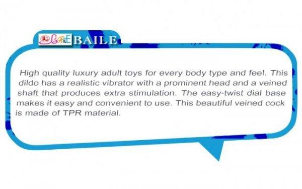 BAILE - BOB Vibrating Sofy Skin 22,5 cm