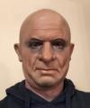 realistyczna twarz męska maska Profesor