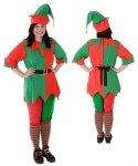 Profesjonalny strój pomocnika Świętego Mikołaja - Elf Classic