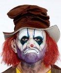 Maska lateksowa - Wypalony Klaun