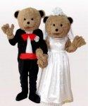 Strój reklamowy - Para Miśków na ślubnym kobiercu 6