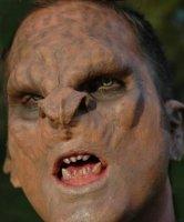 Maska klejona na twarzy - Troll