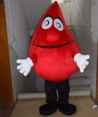 Strój żywej maskotki - Kropla Krwi 2