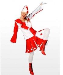 Profesjonalny strój klauna - Pierrot Lady