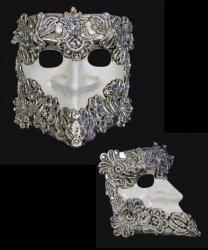 Maska wenecka - Bauta Macram S/W