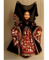 Marionetka wenecka - Dama Nera (77 cm)