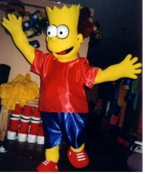 Strój reklamowy - Bart Simpson