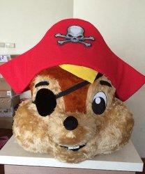 Głowa chodzącej maskotki - Wiewiórka Pirat
