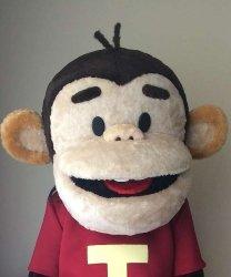 Głowa chodzącej maskotki - Szympans