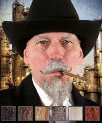 Naturalne wąsy & broda - Tycoon