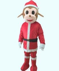 Strój chodzącej maskotki - Małpka Święty Mikołaj