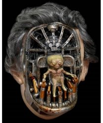 Maska lateksowa - Men In Black Arquilianer