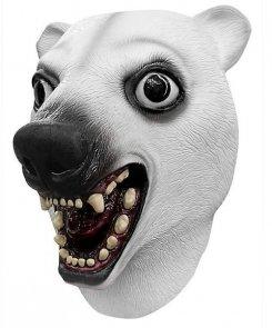 Maska lateksowa - Miś Polarny