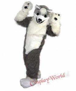 Strój chodzącej maskotki - Pies Husky