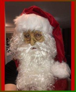 Maska lateksowa z zarostem Świętego Mikołaja I