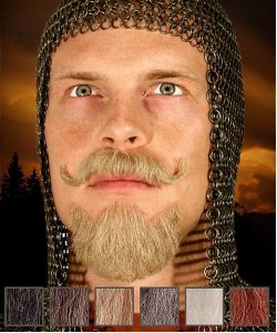 Naturalne wąsy & broda - Templariusz
