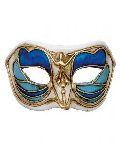 Maska wenecka - Colombina Monica Blue